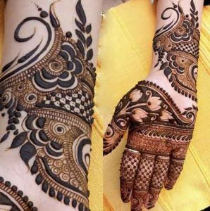 Best front hand mehndi designs for engagement