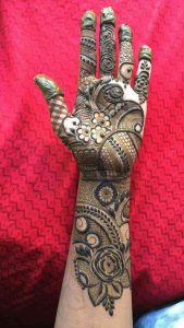 Front full hand mehndi designs
