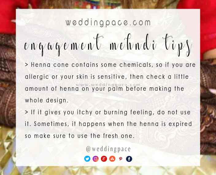 Latest mehndi designs tips for engagement