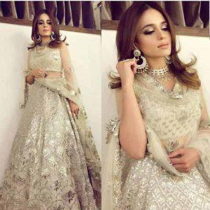 Best off white lehnga choli for Pakistani bridal engagement