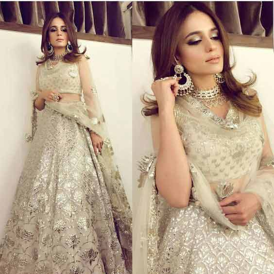 Best off white lehnga choli for Pakistani bridal engagement