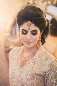 Latest makeup ideas with golden dress