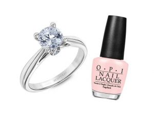Best pinkish nail paint color with ring