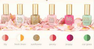 Light color palette for engagement nail art designs