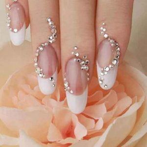 Latest beads nail art designs for engagement