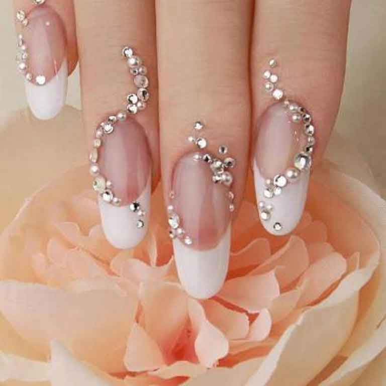 Beads Nail Art Weddingpace