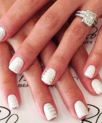 Best white and silver engagement nail art