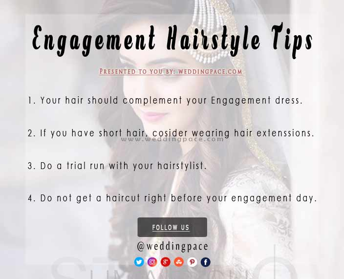 Pakistani engagement hairstyle tips for brides