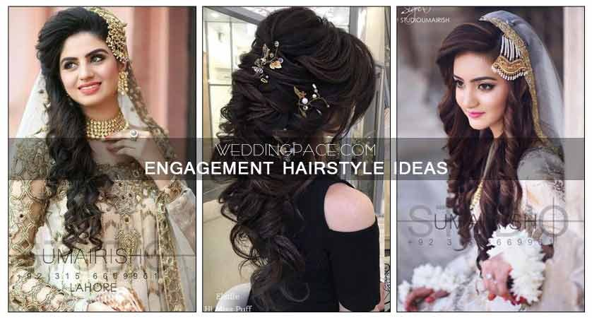 Latest Pakistani engagement hairstyles for brides