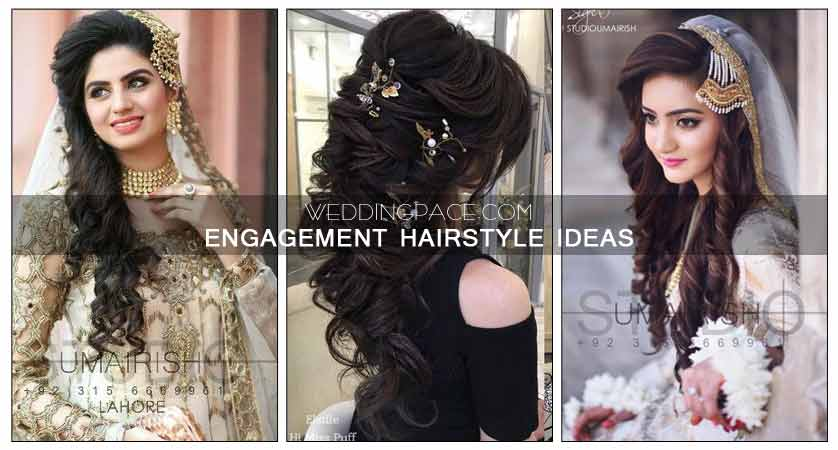 Pakistani Engagement Hairstyles For Brides In 2018