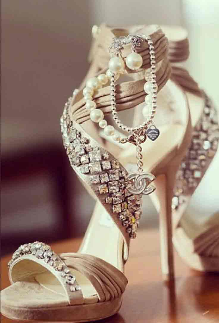 Beautiful high heels for engagement brides in Pakistan