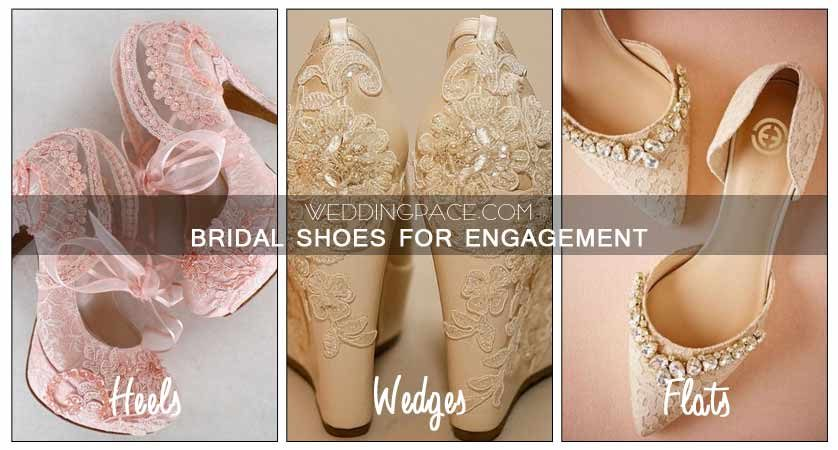 Pakistani engagement flats heels and wedges shoes for bridals