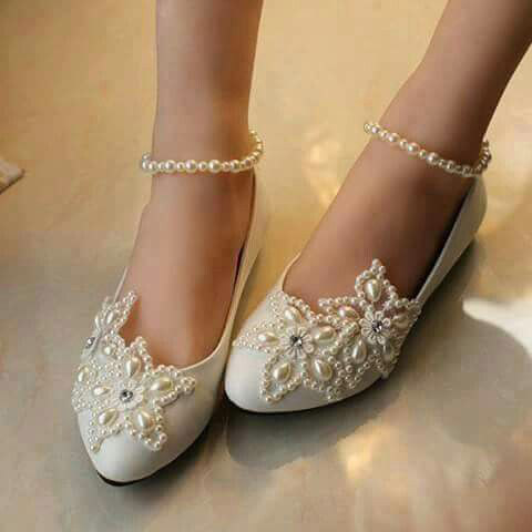 Latest fancy bridal flats for Pakistani brides