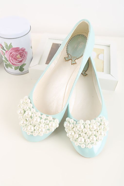 Latest Light blue bridal flats for Pakistani engagement brides