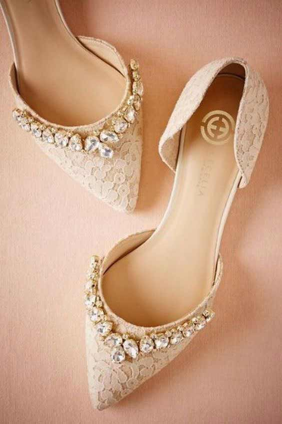 Latest Fancy bridal flats for engagement brides