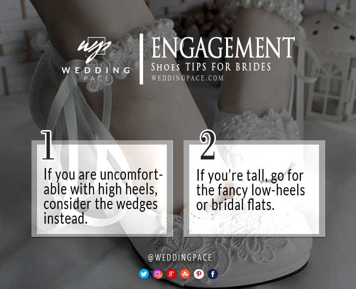 Pakistani engagement shoes tips for bridals