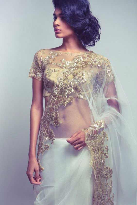 Pakistani bridal net sarees