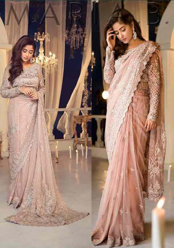 Pakistani pink bridal sarees for weddings