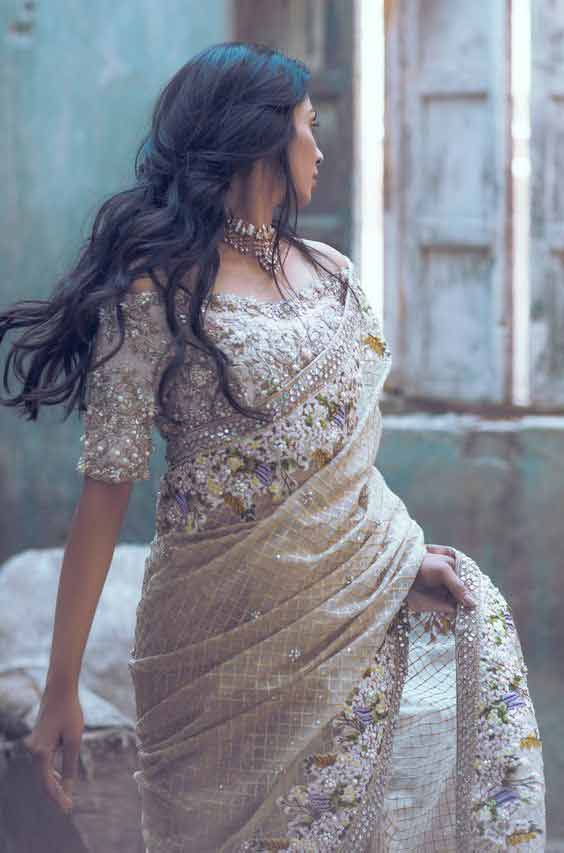 Pakistani bridal saree designs for weddings