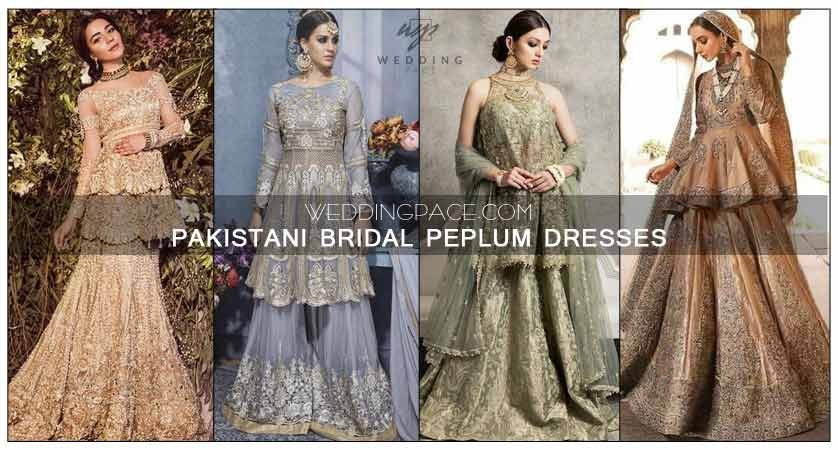 Latest Pakistani peplum dresses for wedding bridals