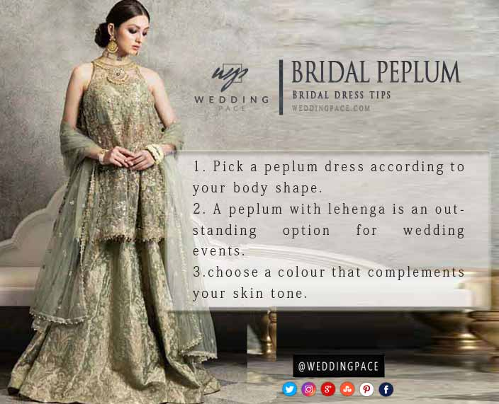 Latest Pakistani peplum dress styling tips for brides
