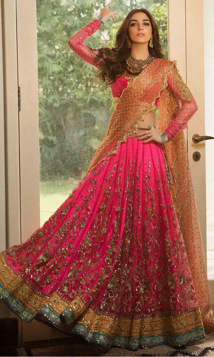 Pink lehenga choli for Pakistani bridals