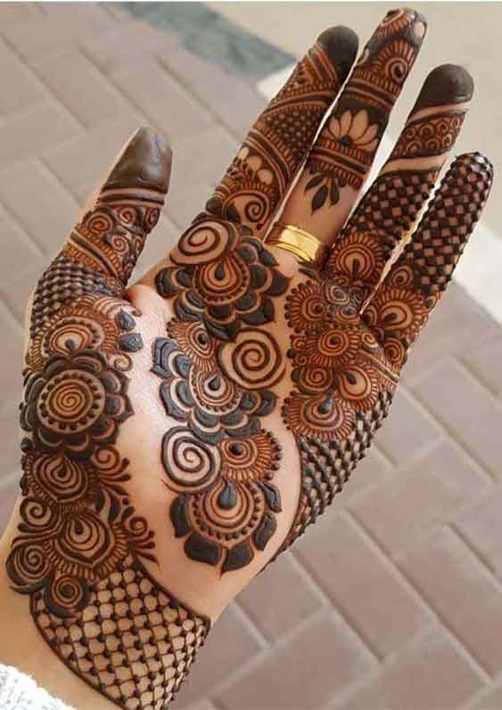 Full hand mehndi designs for bridals