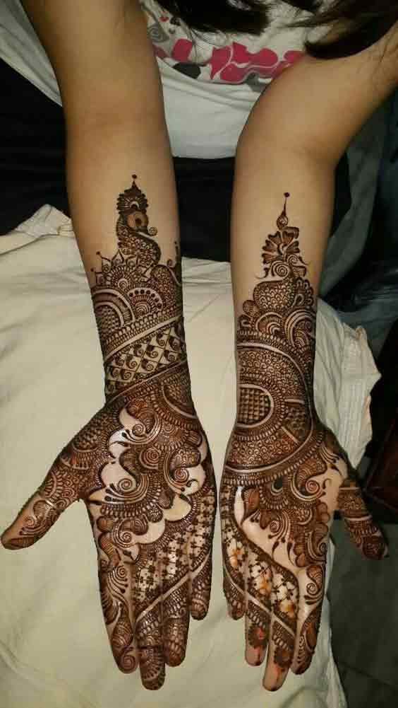 Hands and arms mehndi styles for Pakistani brides