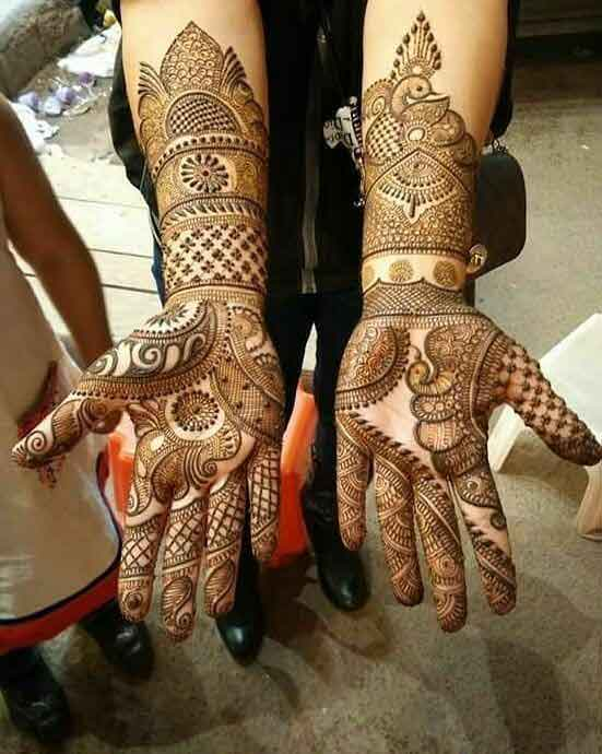 Full hand mehndi styles for bridals