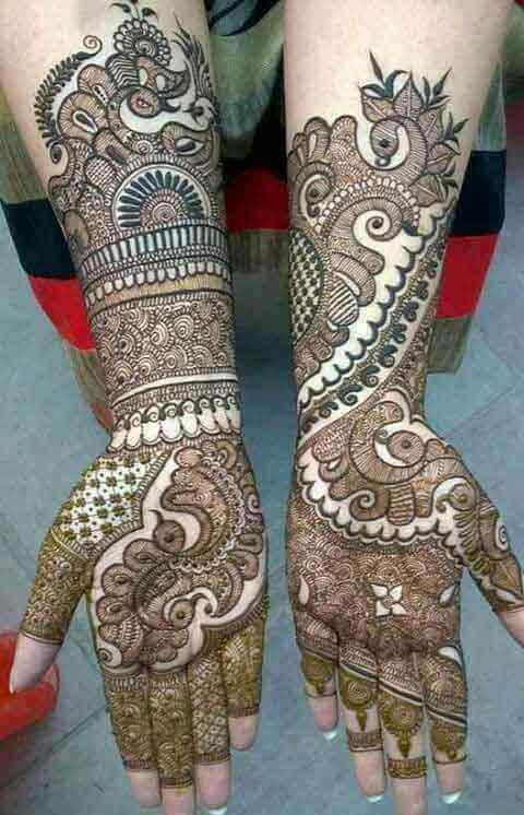 Full hands and arms mehndi for Pakistani brides