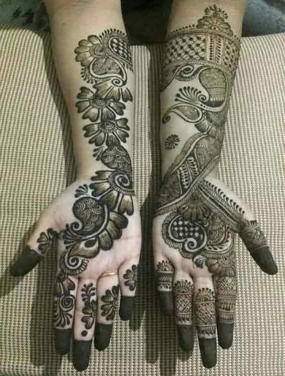 Pakistani bridal full hands mehndi designs