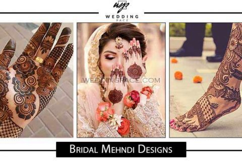 Latest Pakistani bridal mehndi designs for hands and feet