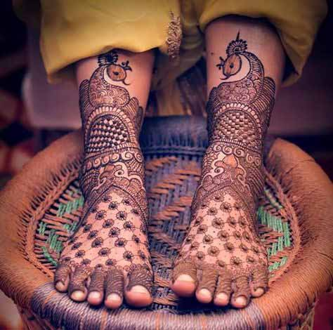 Full foot mehndi design for bridals